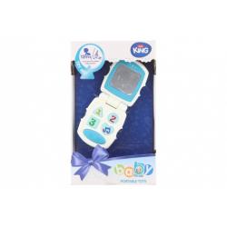 Obrázek Baby telefon modrý na baterie