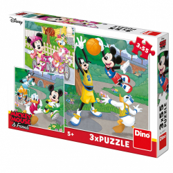 Obrázek Puzzle WD Mickey a Minnie sportovci 3x55D