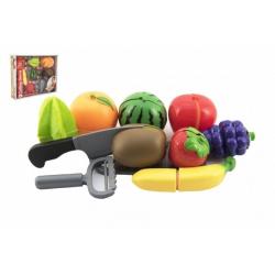 Obrázek Ovoce krájecí plast se struhadlem s nožem se škrabkou v krabici 30x24x6cm