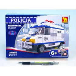 Obrázek Stavebnice Dromader Policie Auto Dodávka 23405 194ks