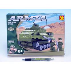 Obrázek Stavebnice Dromader Vojáci Tank 22408 199ks