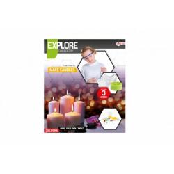 Obrázek Výroba svíček vědecká hra s formičkami v krabici 27x31x5cm