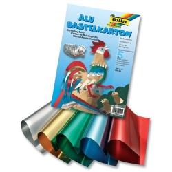 Obrázek Hliníková folie 300g/m2 A4, 5 barevných listů