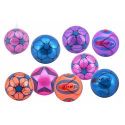 Obrázek Míč barevný nafouknutý guma 23cm mix barev v síťce