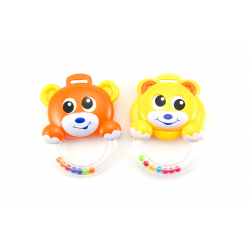 Obrázek Chrastítko medvídek plast - 2 barvy  3m+