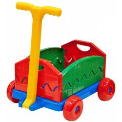 Obrázek Vozík / Vlečka plast 40x32x20cm rozkladacia s rukoväťou