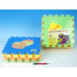 Obrázek Pěnové puzzle Ovoce 30x30cm - 2 druhy 10ks