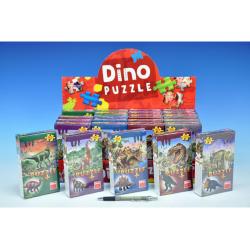 Obrázek Puzzle Dinosauři  60 dílků + figurka - 6 druhů