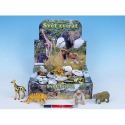 Obrázek Zvířátka safari/ZOO plast 8-13cm - 8 druhů
