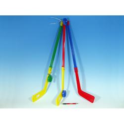 Obrázek Hokejka plastová s pukem 74cm mix barev
