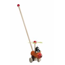 Obrázek Strkadlo Krtko a vrtuľník drevo 60cm od 12 mesiacov