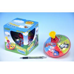 Obrázek Káča Krtek točící plast průměr 13cm se zvukem - 3 barvy