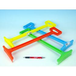 Obrázek Hrábě plast 43,5cm - 4 barvy nářadí