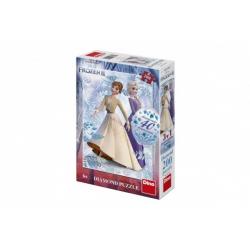 Obrázek Puzzle 3v1 Ledové království II/Frozen II 200 dílků s diamanty s lepidlem v krabici 20x29,5x6cm