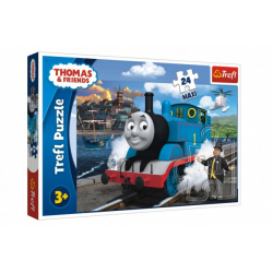 Obrázek Puzzle maxi 24 dílků Mašinka Tomáš-Tomášův šťastný den 60x40cm v krabici 21x14x4cm
