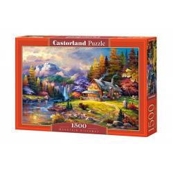 Obrázek Puzzle 1500 dielikov - Domček s pozadím hôr