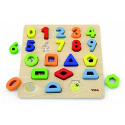 Obrázek Dřevěná vkládačka - čísla a tvary