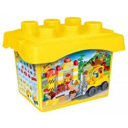 Obrázek BanBao Staveniště 71ks + 3 figurky v plastovém boxu