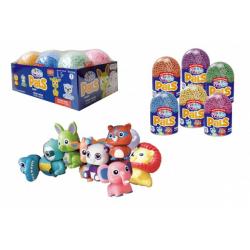 Obrázek PlayFoam® PALS Modelína/Plastelína kuličková Kámoši (Série 1) mix barev 6ks (4+2 zdarma) v boxu