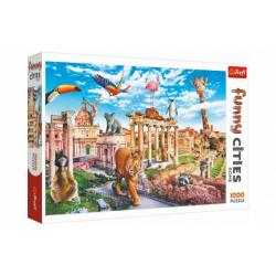 Obrázek Puzzle Legrační města - Divoký Řím 1000 dílků 68,3x48cm v krabici 40x27x6cm