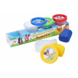 Obrázek Plastelína / Plastelína hmota Krtek sada 4ks 50g v kelímku
