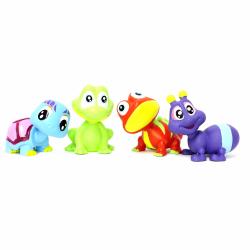 Obrázek Treehouse Mini zvieratká 4ks - Žabička, Želvička, Chameleon, Chrobáčik