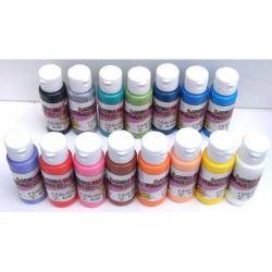 Obrázek Barva na sklo a keramiku 60ml- assort 15 barev