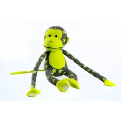 Obrázek Opice svítící ve tmě plyš 45x14cm šedá/žlutá