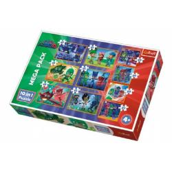 Obrázek Puzzle PJ masky 10v1 v krabici 40x27x6cm
