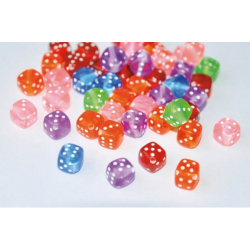 Obrázek Plastové korálky ve tvaru hracích kostek