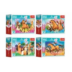 Obrázek Minipuzzle 54 dílků Čas na nové dobrodružství/Dreamworks 4 druhy v krabičce 9x6,5x4cm 40ks v boxu