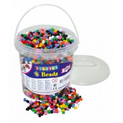 Obrázek Zažehlovací korálky- 5000 ks korálků- kbelík, základní barvy
