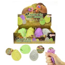 Obrázek Vejce s malým dinosaurem mačkací gumové - 4 druhy 12 ks v boxu