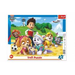 Obrázek Puzzle deskové Paw Patrol/Tlapková patrola na stopě 37x29cm 25 dílků ve fólii 16ks v boxu