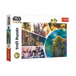 Obrázek Puzzle Star Wars/The Mandalorian 100 dílků 41x27,5cm v krabici 29x19x4cm