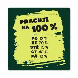 Obrázek Pánské humorné tričko - 100%, vel. XL