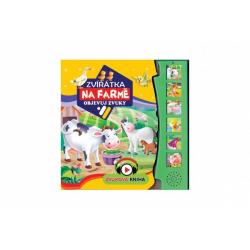 Obrázek Zvuková knížka Zvířátka na farmě Objevuj zvuky CZ verze 19,5x19,5cm