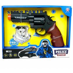 Obrázek Policejní pistole s odznakem