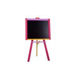 Obrázek Tabule stojanová růžová sololit dřevěná  100x56cm v krabici 57x101x6,5cm