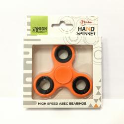 Obrázek Fidget Spinner kov/plast 7cm - oranžová