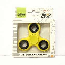 Obrázek Fidget Spinner kov/plast 7cm - žlutá