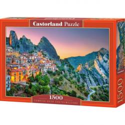 Obrázek Puzzle Castorland 1500 dílků - Východ slunce nad Castelmezzanem
