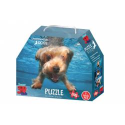 Obrázek 3D Puzzle Pejsci pod vodou 3v1