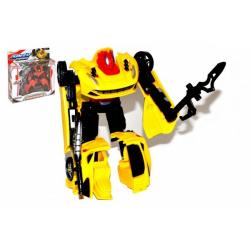 Obrázek Transformer auto/robot plast 15cm s doplňky 4 druhy v krabici 23x25x5cm
