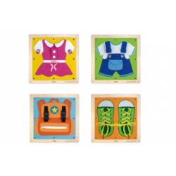 Obrázek Dřevěná nástěnná hra oblékání/zapínání