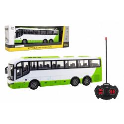 Obrázek Autobus RC na dálkové ovládání plast 27MHz 32cm na baterie se světlem v krabici 42x15x11cm