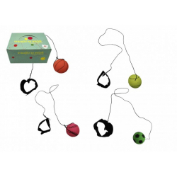 Obrázek Míček vracející se gumový 6cm 4 barvy v síťce 24ks v boxu