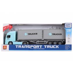 Obrázek Kamion s kontejnery na baterie