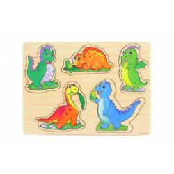 Obrázek Dřevěná vkládačka dinosauři
