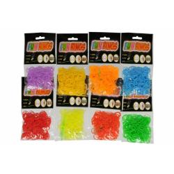 Obrázek Udělej si svůj náramek - gumičky na pletení gumové - mix barev 300ks